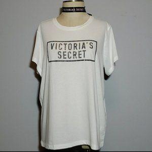 Victoria's Secret Bling Logo Tee NWT